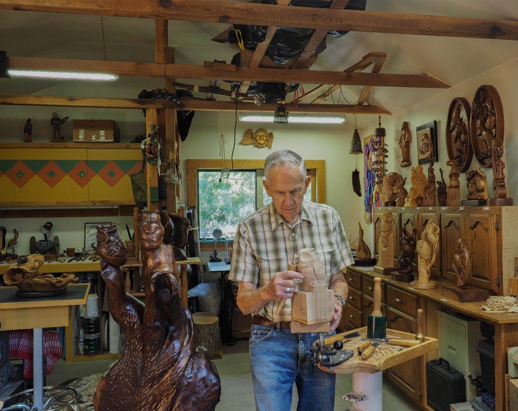 Nick Eason In his Studio
