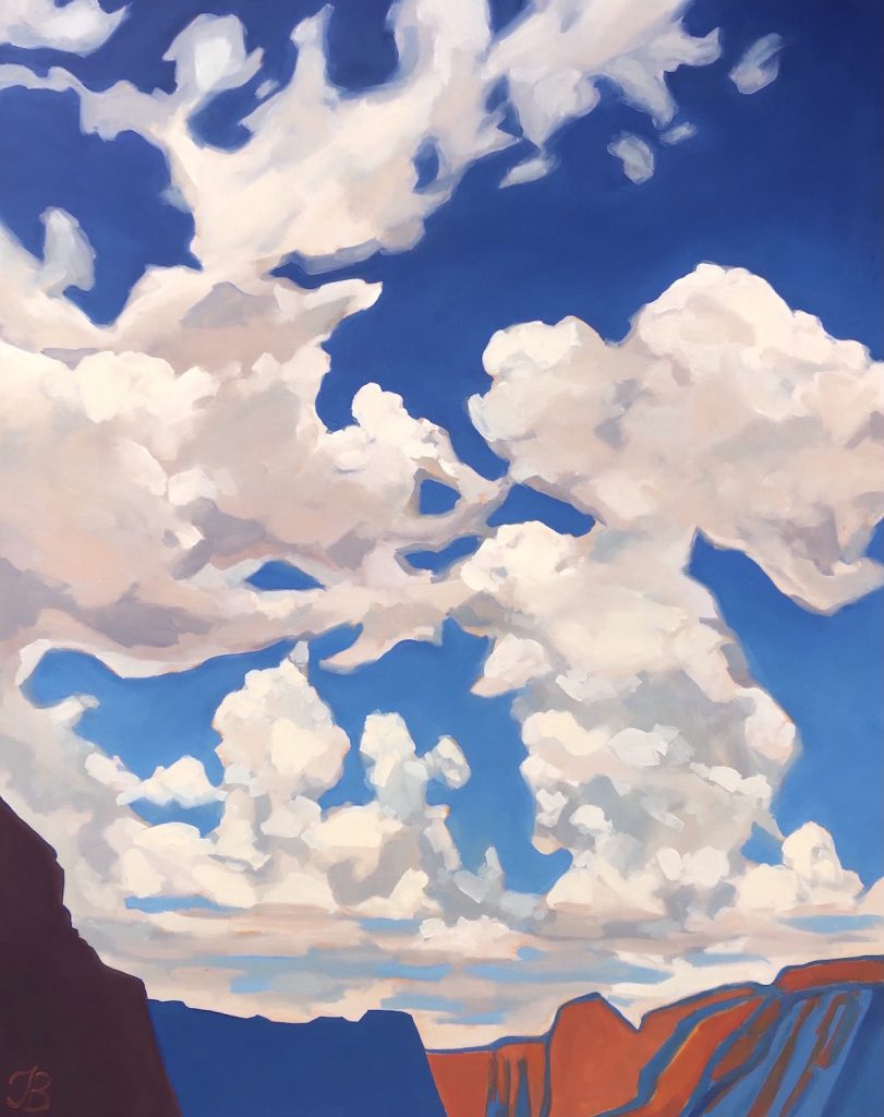 Day with the Clouds - Julia Buckwalter painting. Moab, Utah.